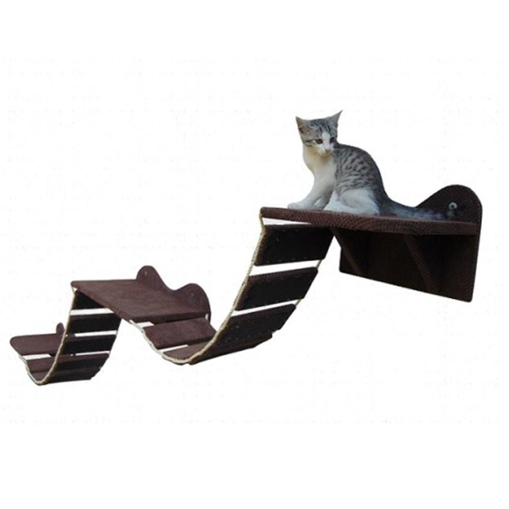 Schody - Półki na ścianę dla kota